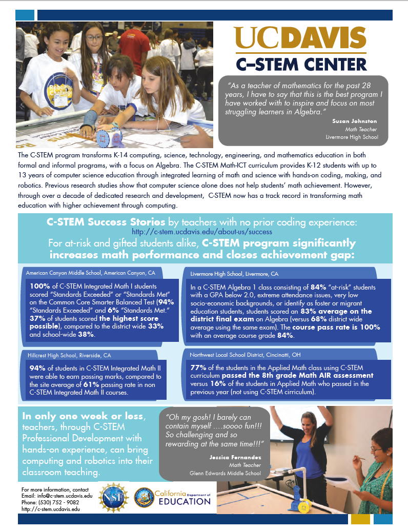 UC Davis Center for Integrated Computing and STEM Education