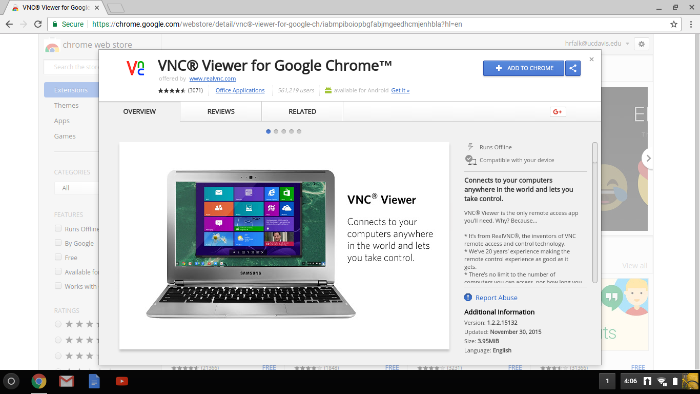 Access from Chromebook